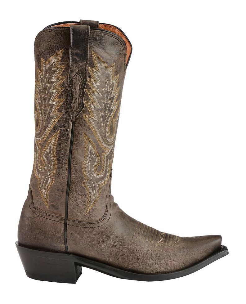 Lucchese Handmade 1883 Madras Goat Cowboy Boots - Snip Toe, Grey, hi-res