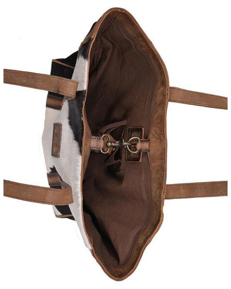 STS Ranchwear Women's Heritage Cowhide Tote Bag, Distressed Brown, hi-res