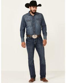 Cinch Men's Ian Performance Medium Wash Slim Bootcut Jeans  , Indigo, hi-res
