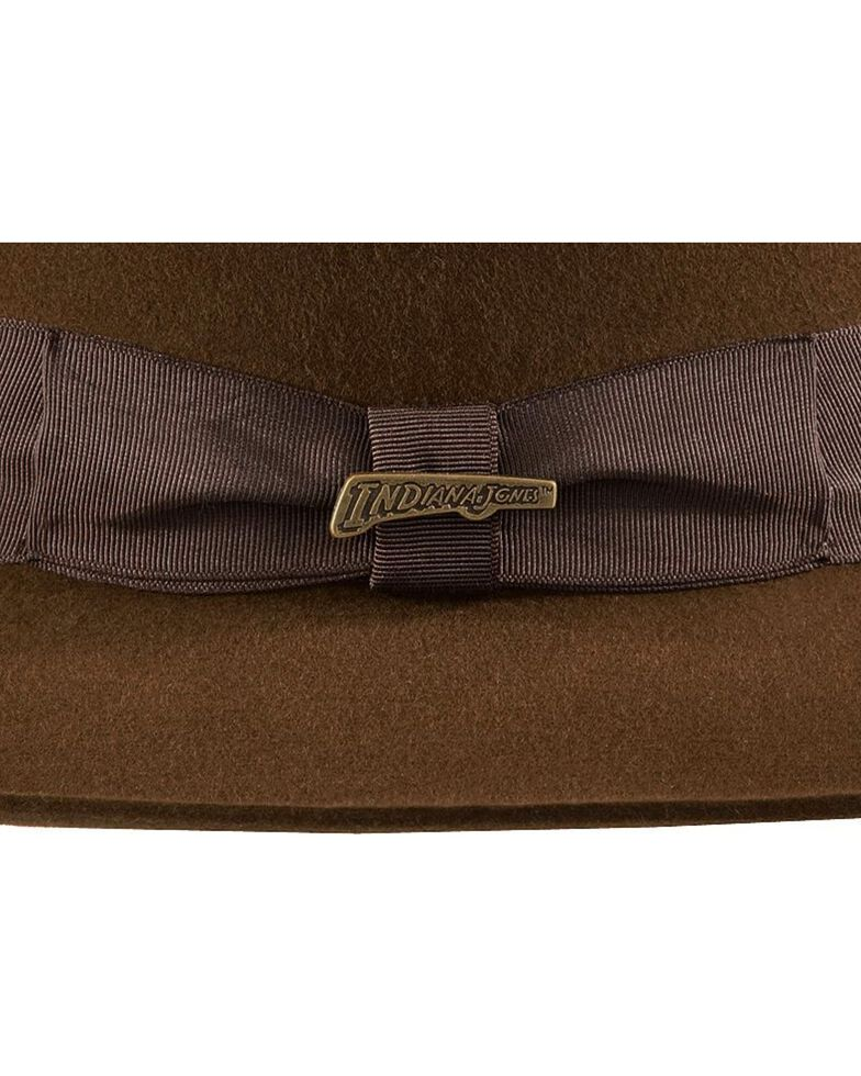 81fedf95 Zoomed Image Indiana Jones Fur Felt Fedora Hat, Brown, hi-res
