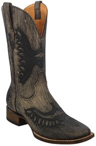 Corral Brown Shaded Eagle Cowboy Boots - Wide Square Toe , Brown, hi-res