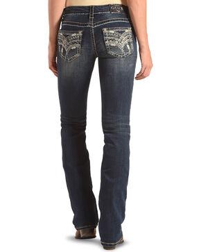 Grace in LA Women's Junior Boot Embellished Pocket Jeans - Boot Cut, Indigo, hi-res