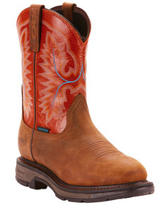 09d82378b41a1a Ariat Mens Tan Workhog XT Pull-On H20 Boots - Round Toe , Tan,
