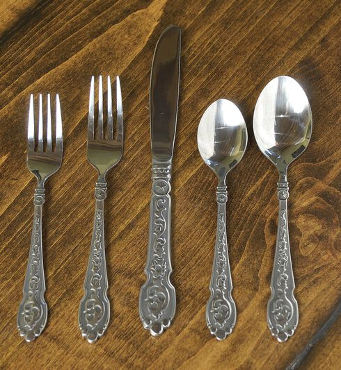 Silverado 20-Piece Flatware Set, Silver, hi-res