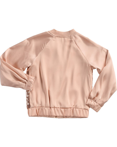 Speechless Girls' Pink Sequin Bomber Jacket , Pink, hi-res