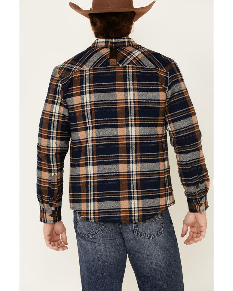 Dakota Grizzly Men's Ink Hogan Plaid Long Sleeve Western Flannel Shirt , Navy, hi-res