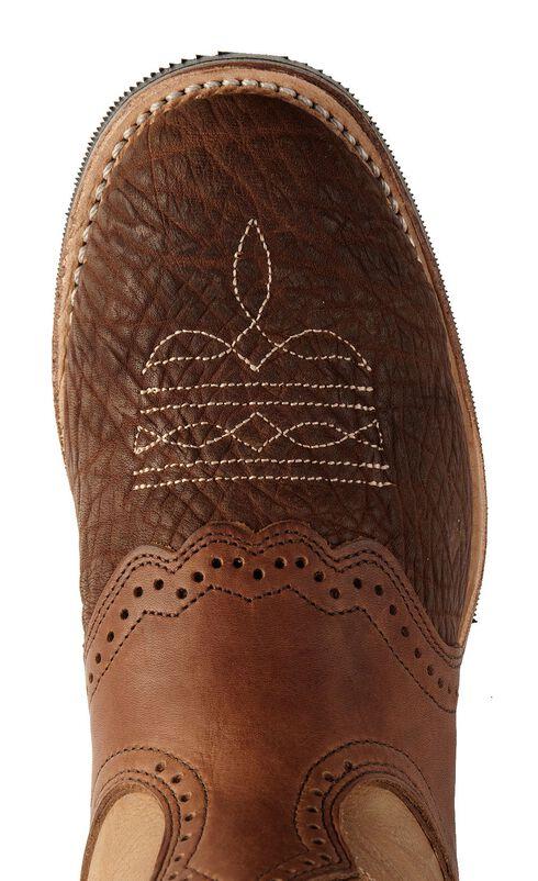 Boulet Apache Whaler Buckskin Cowgirl Boots - Round Toe, Apache Tan, hi-res