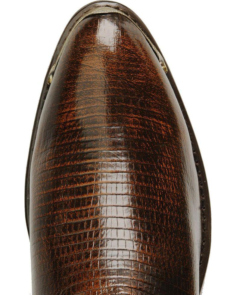 Laredo Men's New York Lizard Print Cowboy Boots - Medium Toe, Cognac, hi-res