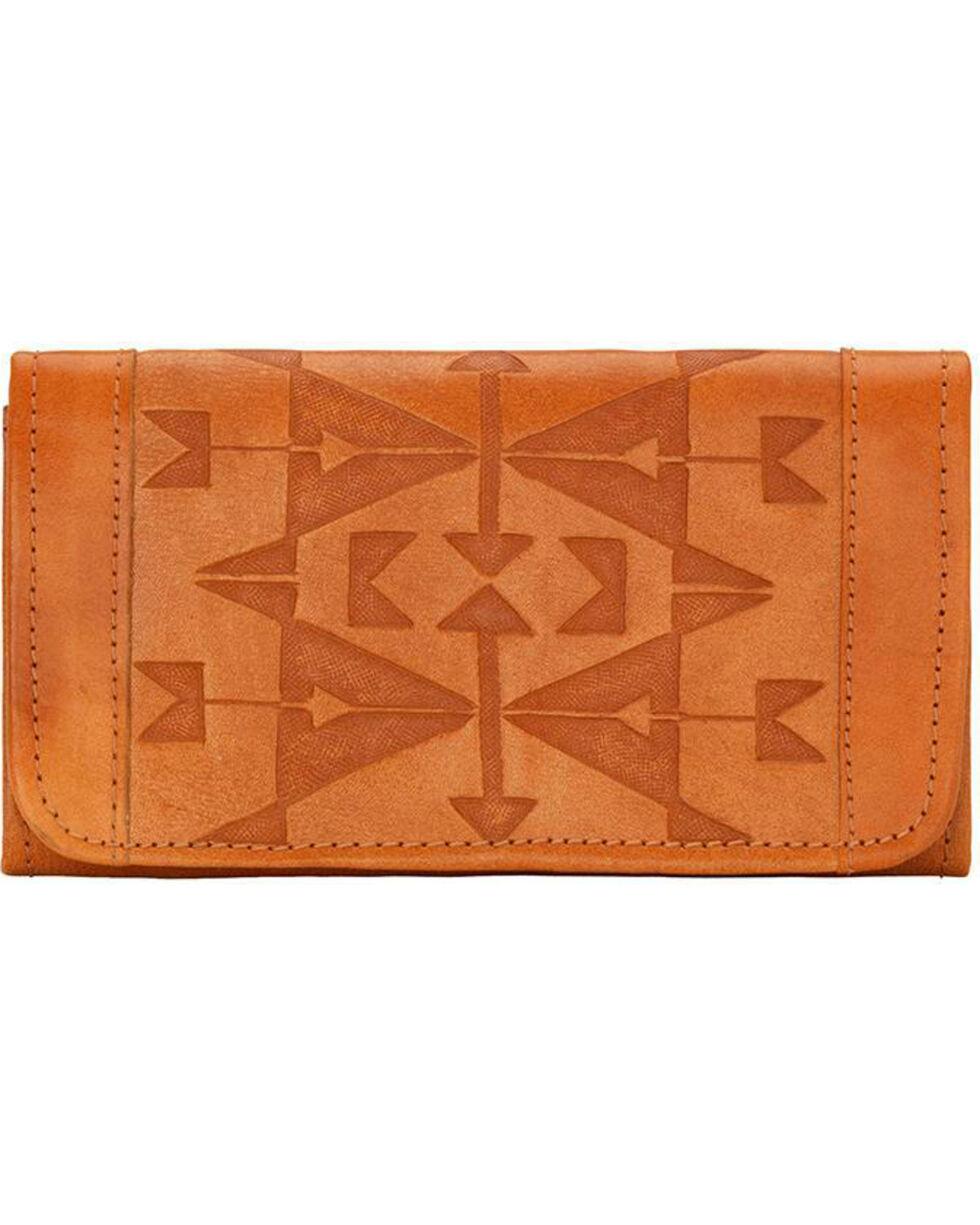 American West Women's Crossed Arrows Tri-Fold Wallet , , hi-res