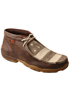 Twisted X Men's Flag Chukka Driving Mocs, Brown, hi-res