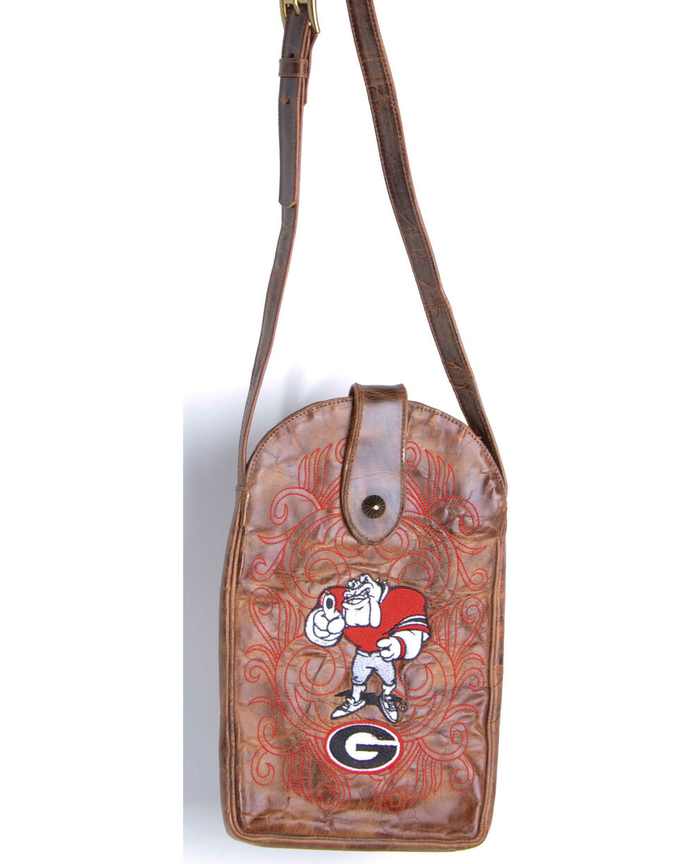 Gameday Boots University of Georgia Crossbody Bag, Brass, hi-res