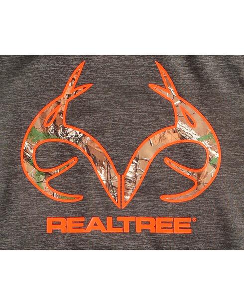 Realtree Boys' Camo Sleeves Hoodie, Charcoal, hi-res