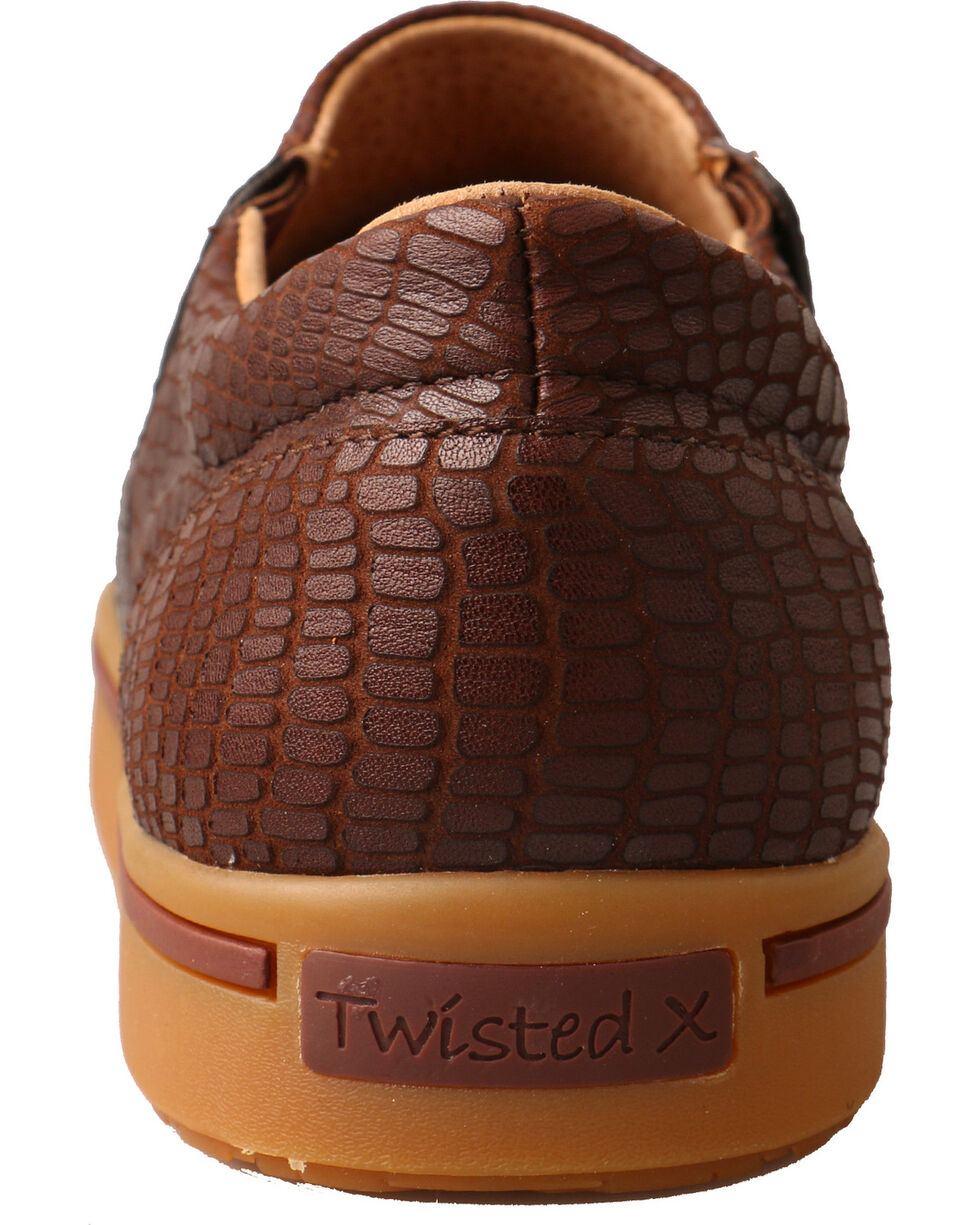 Twisted X Men's Slip On Casual Shoes - Round Toe, Brown, hi-res
