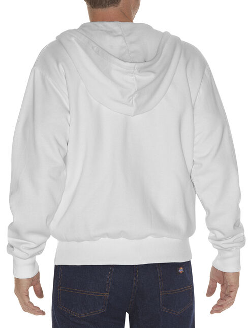 Dickies Midweight Fleece Zip-Up Hooded Work Jacket, White, hi-res