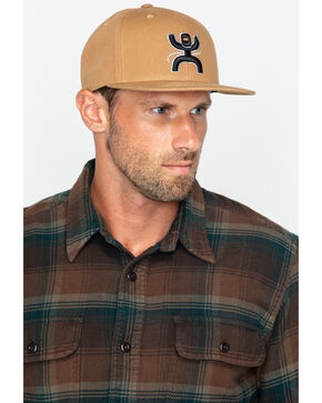 HOOey Men's Arc Tan Trucker Cap, Tan, hi-res