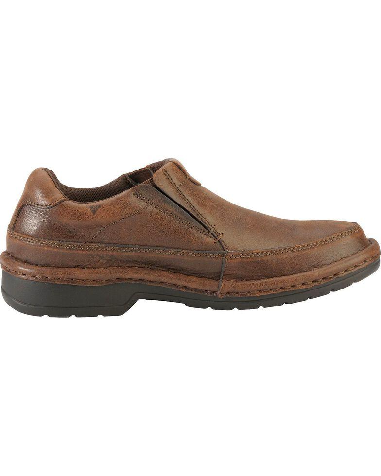 Roper Nubuck Opanka Slip-On Shoes, Brown, hi-res