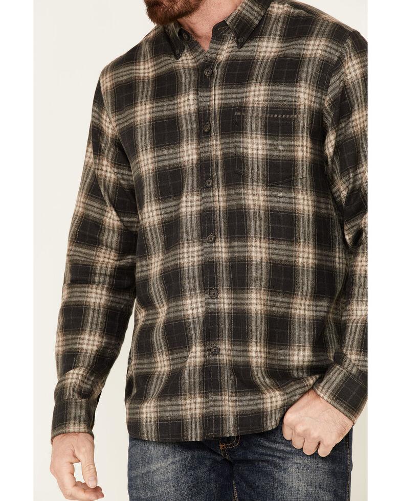 North River Men's Black Bittersweet Large Plaid Long Sleeve Western Flannel Shirt , Black, hi-res