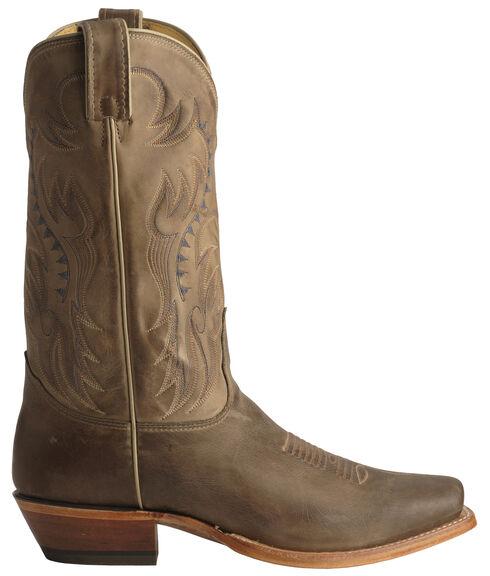 Nocona Legacy Vintage Cowboy Boots - Snoot Toe, Tan, hi-res