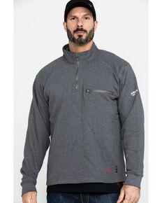 Ariat Men's FR Rev 1/4 Zip Work Pullover - Tall , Charcoal, hi-res