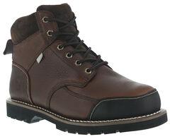 Iron Age Men's Dozer Met Guard Work Boots - Steel Toe , Brown, hi-res