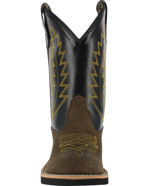 Cody James Boy's Old West Cowboy Boots - Round Toe, Brown, hi-res