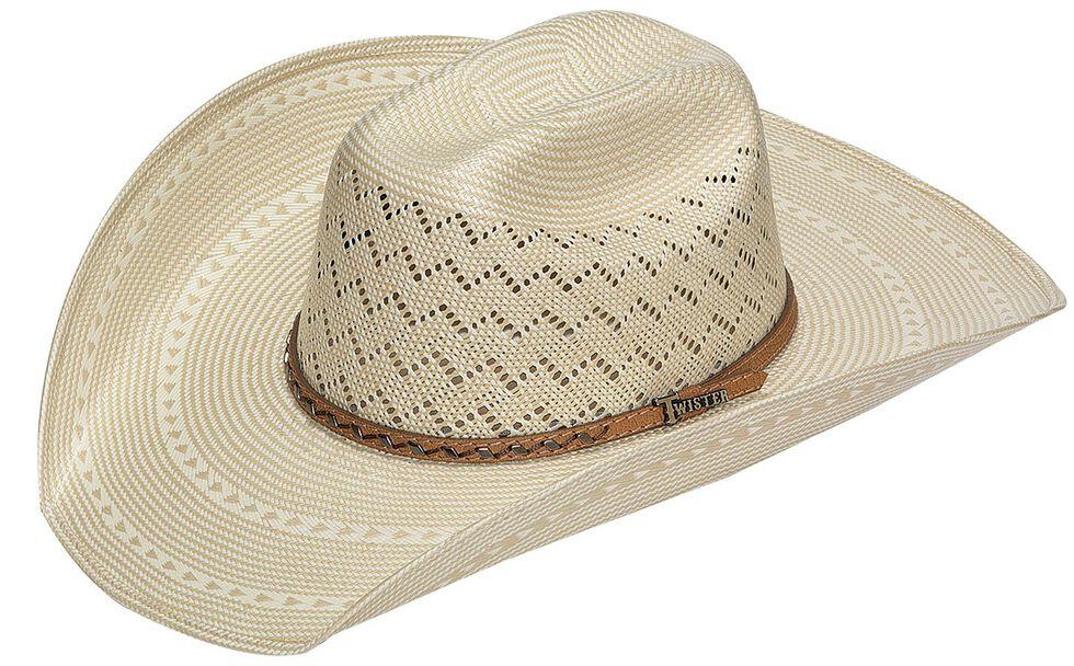 Twister 10X Shantung Maverick Straw Cowboy Hat, Natural, hi-res