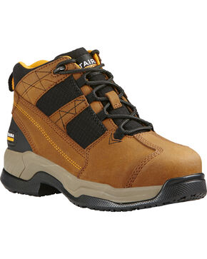 Ariat Women's Contender Work Boots - Steel Toe, Brown, hi-res