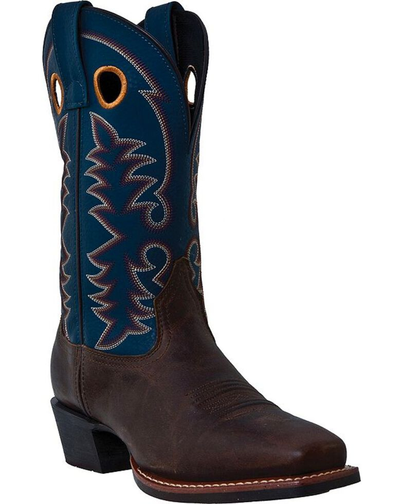 Laredo Range Man Cowboy Boots - Square Toe, Brown, hi-res