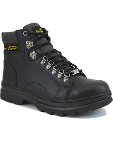 "Ad Tec Men's 6"" Lace Up Hiker Boots - Steel Toe, Black, hi-res"