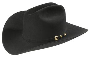 Larry Mahan Black Opulento 30X Fur Felt Cowboy Hat, Black, hi-res