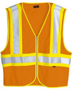 Wolverine Men's Safety Mile Marker Vest, Orange, hi-res