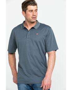 0c757d09 Ariat Mens Grey TEK Short Sleeve Polo Shirt , Grey, hi-res