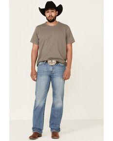 Cinch Men's Grant Performance Denim Light Stonewash Relaxed Bootcut Jeans , Indigo, hi-res