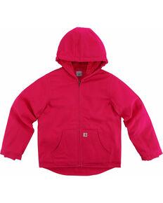 Carhartt Girls' Pink Redwood Sherpa-Lined Jacket , Pink, hi-res