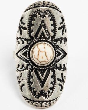 Shyanne Women's White Howlite Statement Ring, Silver, hi-res