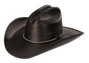 Jason Aldean Asphalt Cowboy Palm Leaf Cowboy Hat, Black, hi-res