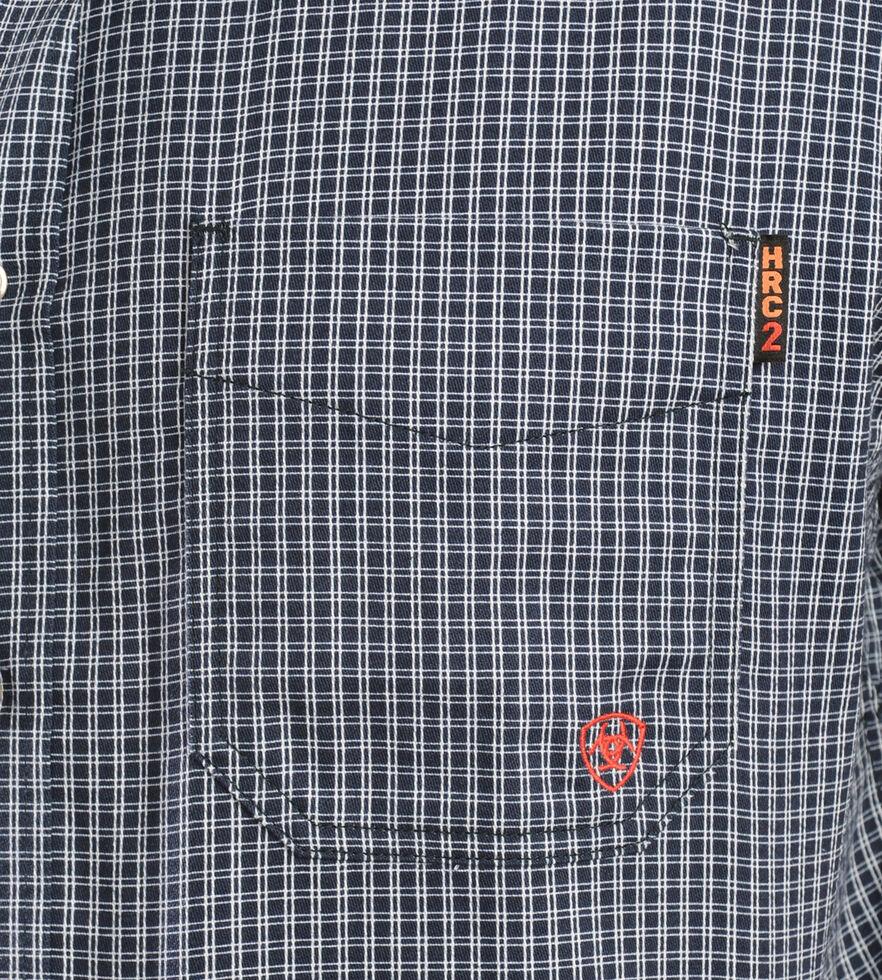 Ariat Men's Flame-Resistant Blue Plaid Work Shirt - Big & Tall, Blue, hi-res