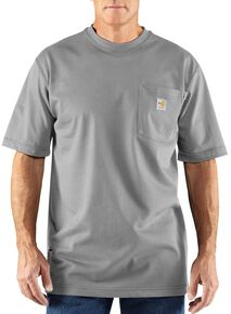 Carhartt Flame Resistant Force Short Sleeve Work Shirt - Big & Tall, Grey, hi-res