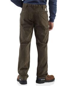 Carhartt Men's Kkaki Rugged Work Pants , Dark Brown, hi-res