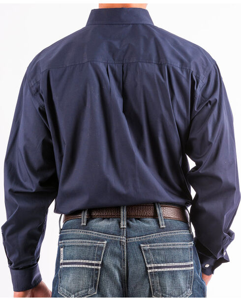 Cinch Men's Navy Solid Western Button-Down Shirt , Navy, hi-res