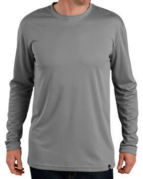 Dickies Men's Pro Long Sleeve Coolcore Tee, Grey, hi-res