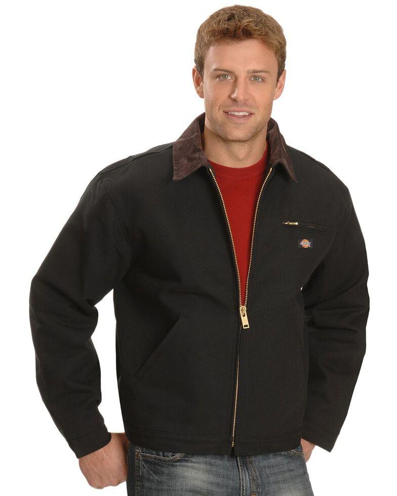 Dickies Men's Blanket Lined Duck Work Jacket, Black, hi-res