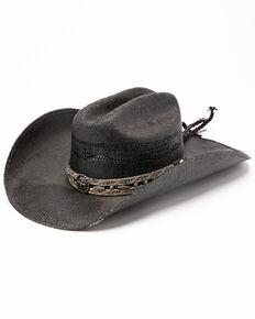 Bullhide Corral Dust Straw Western Hat , Black, hi-res