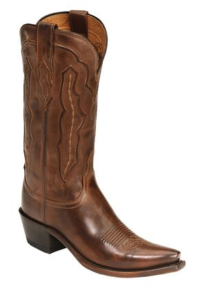 Lucchese Handcrafted 1883 Grace Cowgirl Boots - Snip Toe, Tan, hi-res