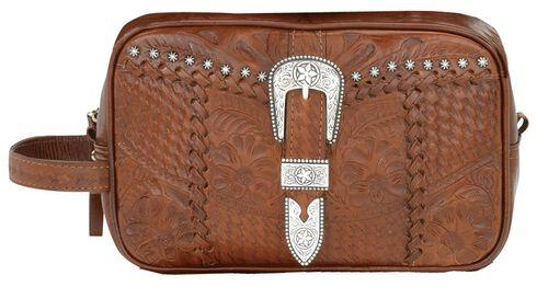 American West Leather w/ Buckle Dopp Kit, Mocha, hi-res