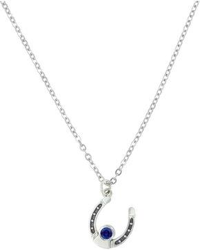 Sterling Lane Women's September Birthstone Necklace , Silver, hi-res