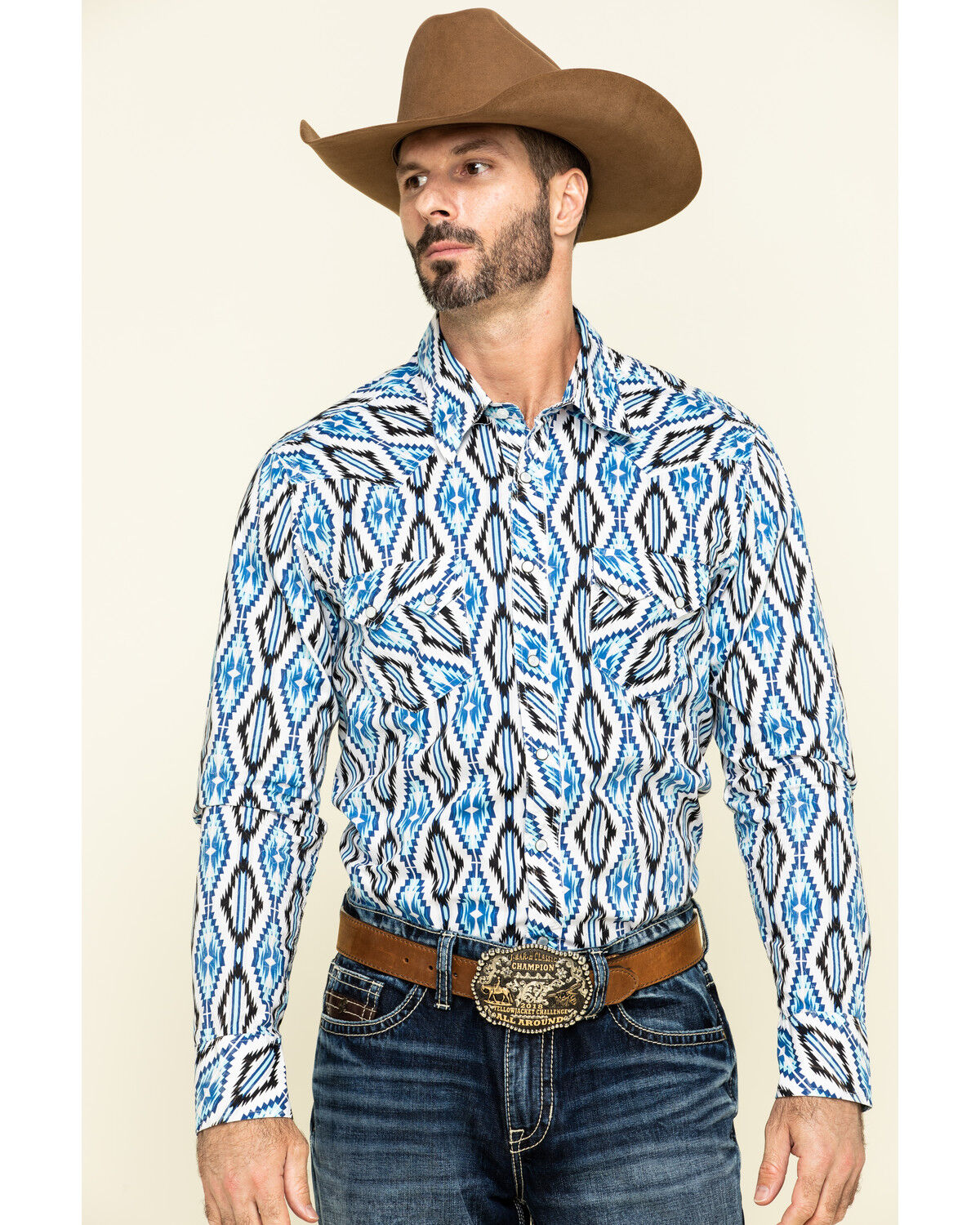 Rock and Roll Cowboy Men/'s Brushed Twill Plaid Long Sleeve Western Shirt  Red