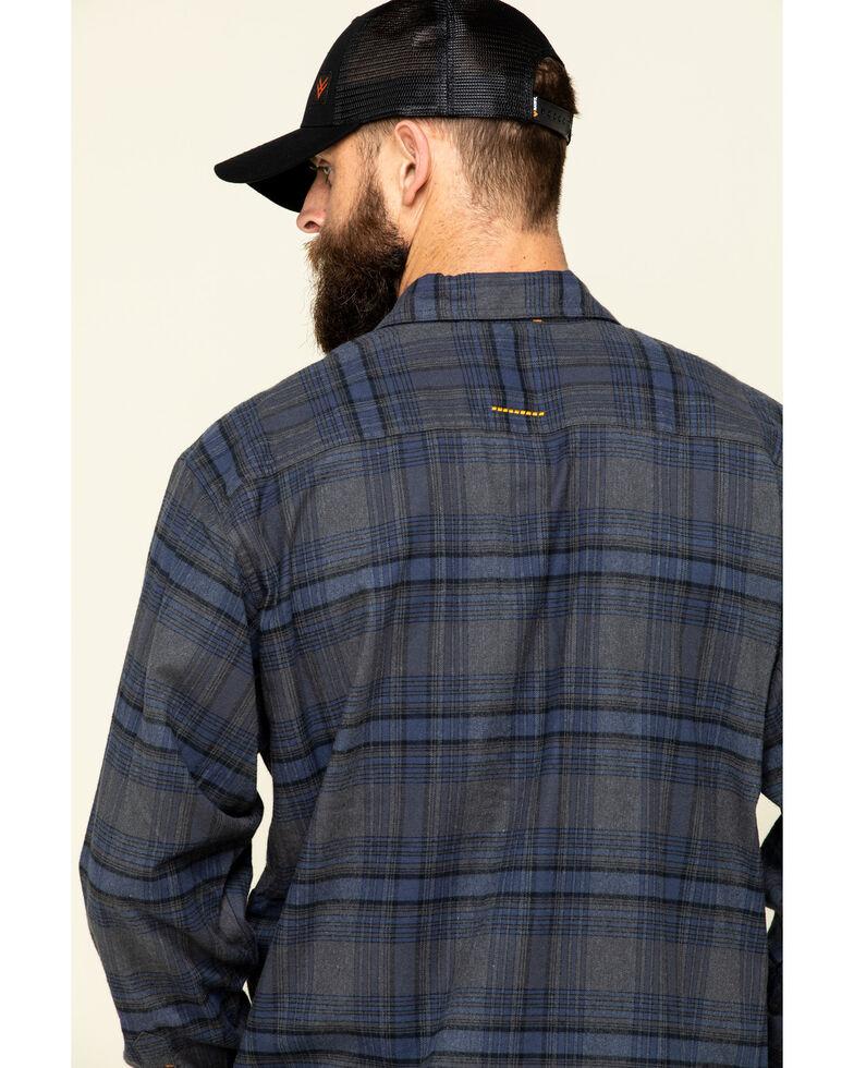 Ariat Men's Charcoal Rebar Flannel Durastretch Plaid Long Sleeve Work Shirt - Big , Charcoal, hi-res