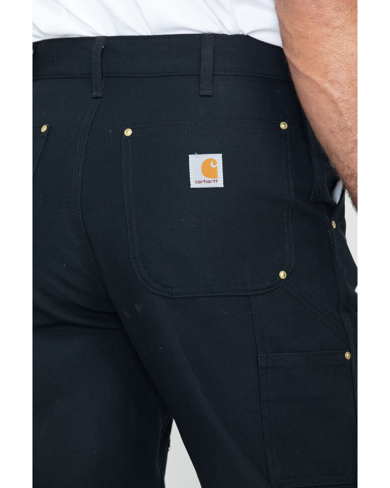 Carhartt Double Duck Dungaree Fit Khaki Work Jeans, Black, hi-res