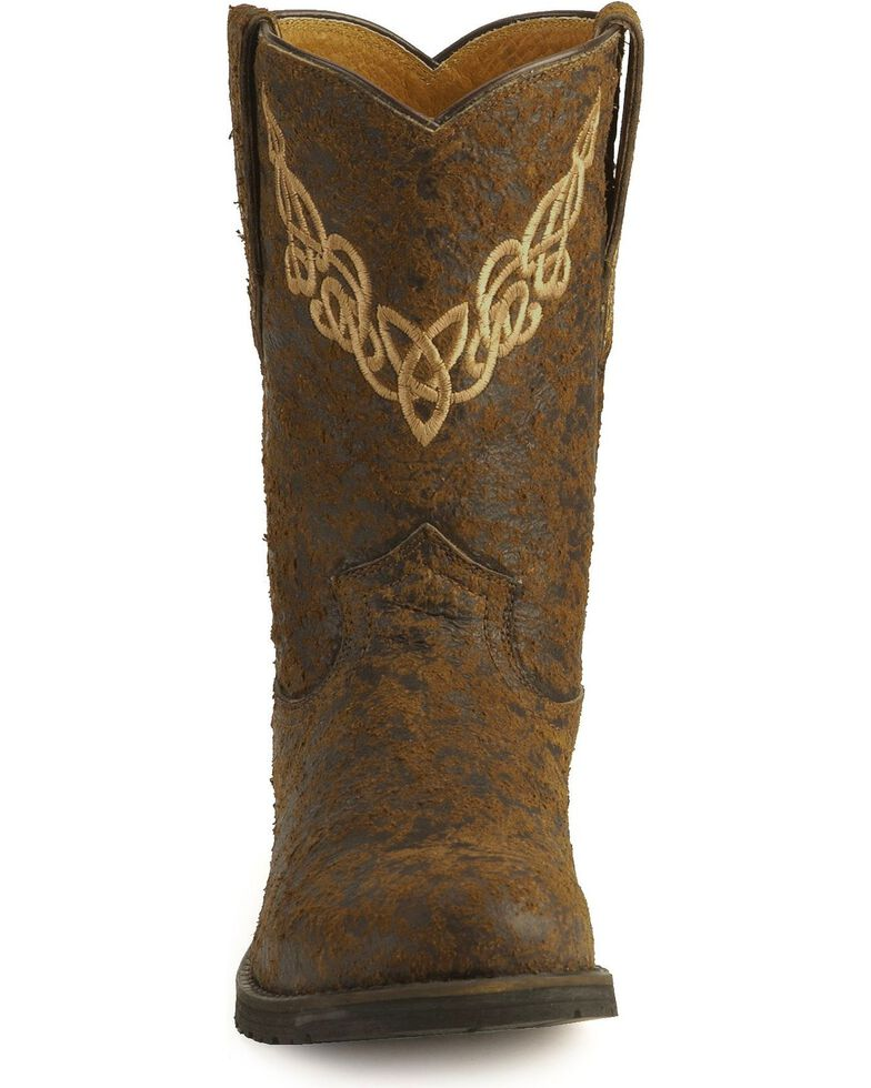 Justin Bent Rail Roper Boots, Brown, hi-res